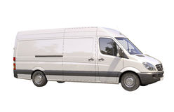 Commercial van isolated. Modern commercial van isolated on a white background Royalty Free Stock Image