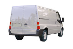 Commercial van isolated royalty free stock photo