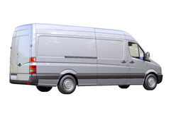 Commercial van isolated stock photo