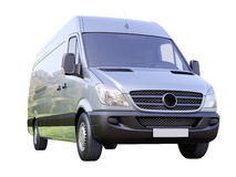 Commercial van isolated Royalty Free Stock Photography