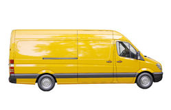 Commercial van isolated Royalty Free Stock Photos