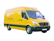 Commercial van isolated royalty free stock image