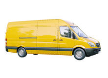 Commercial van isolated Stock Photos