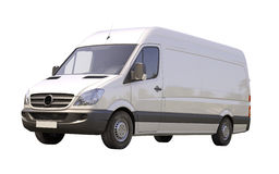 Commercial van isolated Stock Image