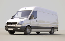 Commercial van. Modern commercial van on a gray background Stock Photography