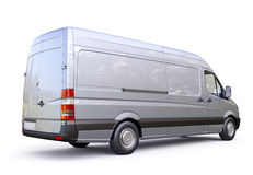 Commercial van. Modern commercial van on a light background Stock Photo