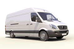 Commercial van Royalty Free Stock Image