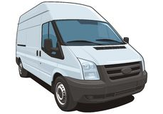 Commercial van stock photo