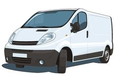 Commercial van stock photography