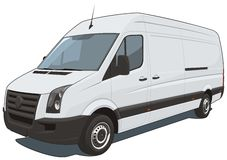 Commercial van Stock Images