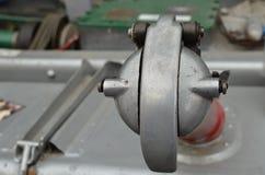 Commercial vehicle fuel filler cap. Vintage commercial vehicle fuel filler cap royalty free stock images