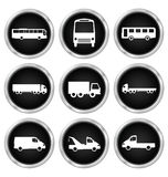 Commercial vehicle icons Stock Images