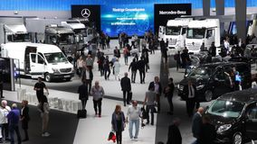 Commercial Vehicles Fair IAA 2016 in Hannover, Germany stock footage