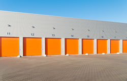 Commercial warehouse exterior Royalty Free Stock Photo