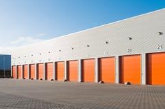 Commercial warehouse exterior Royalty Free Stock Photos