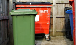 Commercial waste bins Stock Photography