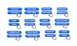 Commercial web site buttons Stock Photo