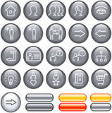 Commercial Website Icon Set (Vector) royalty free illustration