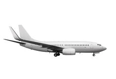 White plane with path l Royalty Free Stock Photo