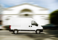 Commercial white van Royalty Free Stock Photo