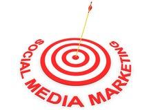 Commercialisation sociale de medias Image stock
