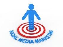 Commercialisation sociale de medias illustration libre de droits