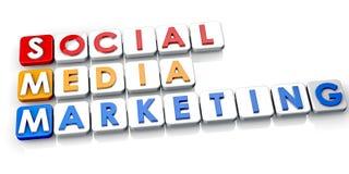 Commercialisation sociale de medias Images libres de droits