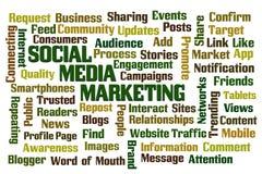 Commercialisation sociale de medias Photographie stock