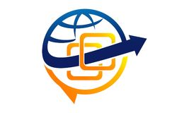 Commercialisation sociale globale de media Photo libre de droits