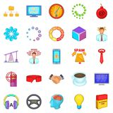 Commercialist icons set, cartoon style Royalty Free Stock Photos