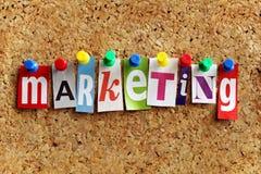 Commercializzazione Fotografia Stock Libera da Diritti