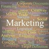 Commercializzazione Immagine Stock