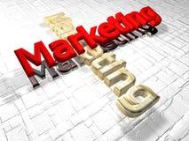 Commercializzazione - 3D Immagini Stock Libere da Diritti