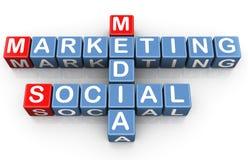 Commercializzazione sociale di media Immagine Stock Libera da Diritti