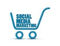 Commercializzazione sociale di media Immagini Stock
