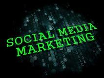 Commercializzazione sociale di media. Concetto di affari. Immagine Stock
