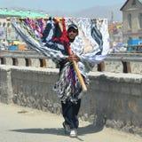 Commerciante afgano della sciarpa Immagini Stock Libere da Diritti