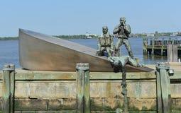 Commerciante americano Marines Memorial in New York immagini stock