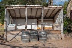 Commerciante Cider Stand a Williamsburg, VA fotografia stock libera da diritti