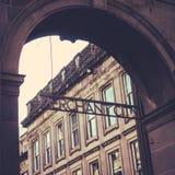Commerciante City Sign Glasgow, Scozia fotografia stock