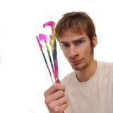 Commerciante dei fuochi d'artificio Fotografia Stock
