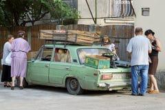 Commerciante della frutta, Mzcheta, Georgia, Europa Immagini Stock Libere da Diritti