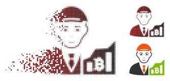Commerciante di semitono punteggiato disperso Icon di Bitcoin Royalty Illustrazione gratis