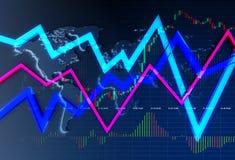 Commerciante globale Concept di valuta fotografia stock
