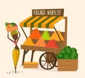 Commerciante locale dell'agricoltore Fotografie Stock