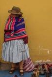 Commerciante peruviano della via Fotografie Stock