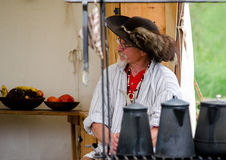 commerciante ri--enactor 1700 Fotografia Stock