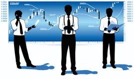 Commercianti del mercato azionario Immagini Stock