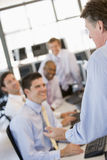 Commercianti di riserva sul lavoro Immagine Stock