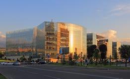 Commercieel centrum Financieel district in Alma Ata royalty-vrije stock foto